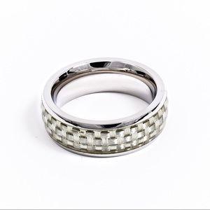Stainless Steel Carbon Fiber Ring